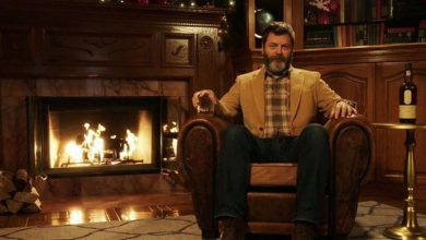 Photo of Nick Offerman's 'Holiday Yule Log' Is Our New Very Favorite Christmas Thing (Video)