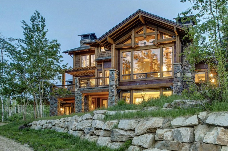 Dream House: Park City Timberframe Stone Lodge (1)