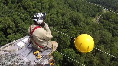 Photo of Installing Power Line Marker Balls By Helicopter (Video)