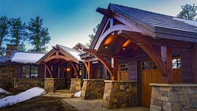 Photo of Dream House: Colorado Bear Gulch Ranch Timberframe (27 Photos)