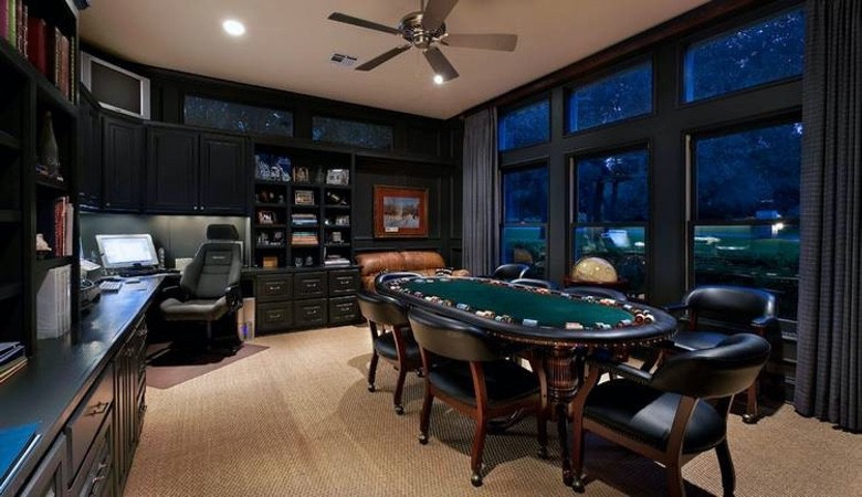 A Poker Table Will Turn Your Man Cave into a MAN Cave (1)